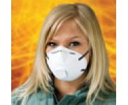Støvmaske, halvmaske FFP2 m_ventil, 10 stk.