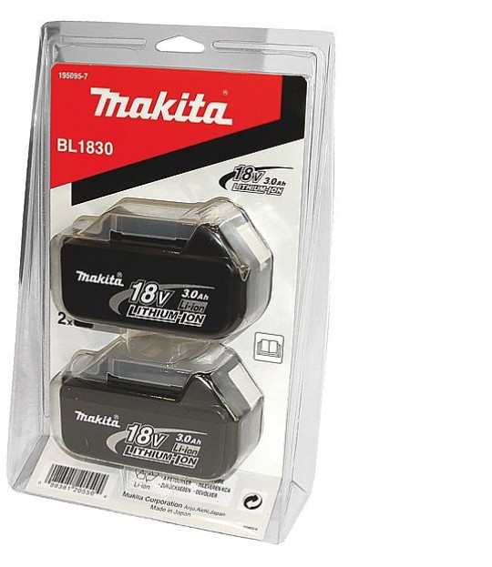 Makita Batteripakke BL1830 18V/3,0Ah 2-pakk