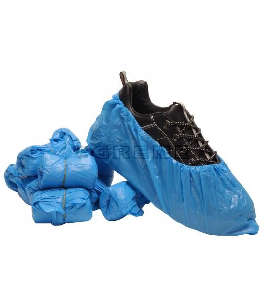 Overtrekkssko blå, eingangs med strikk, 50 par