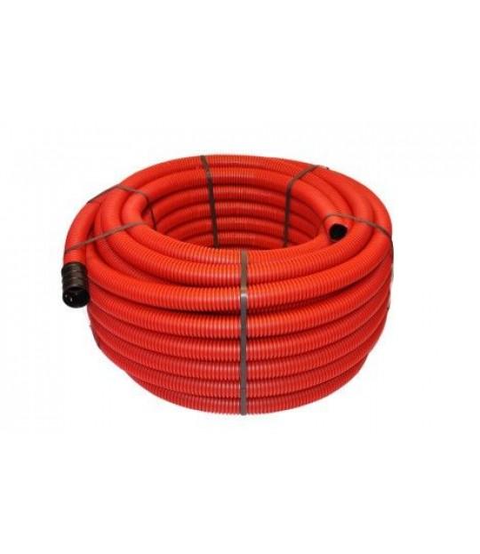 Kabelrøyr DV 50mm Rød kveil a 50 meter, pris pr meter