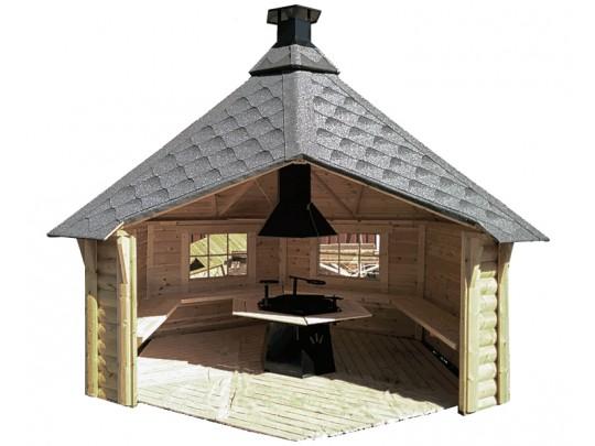 Gapahuk 9,2 m2 med grill