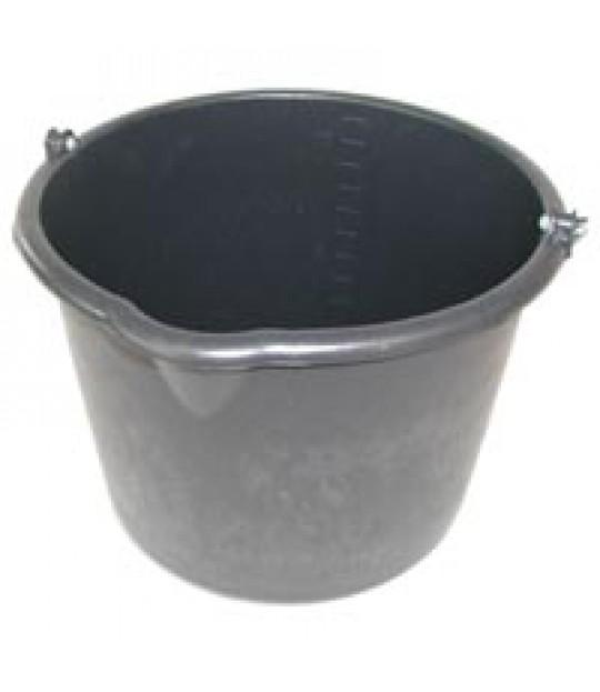 Plastbøtte sort 12 liter, med måleskala og helletut