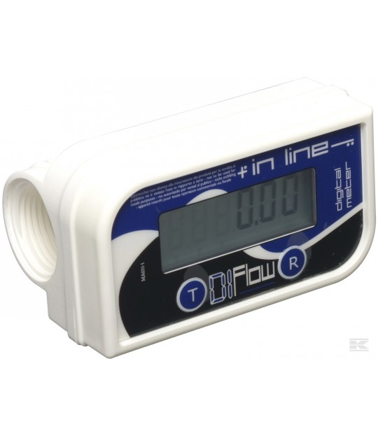 Digital flow meter for dieseltank