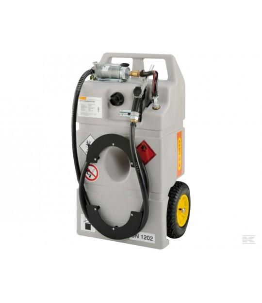 Dieseltank 100 L med hjul og håndpumpe