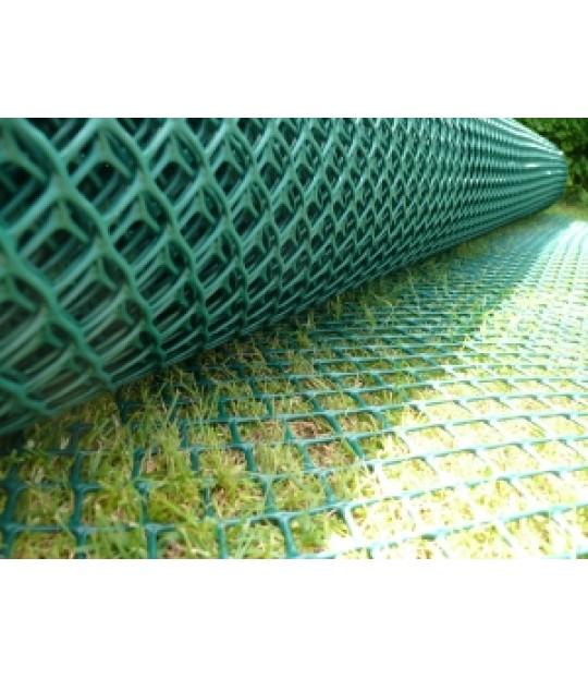 Flettverk, plastbelagt grønn, 2,2/2,7 - 100cm x 25m.