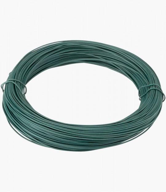 Topptråd grønn plastbelagt, 3,5/4,0mm 52 meter