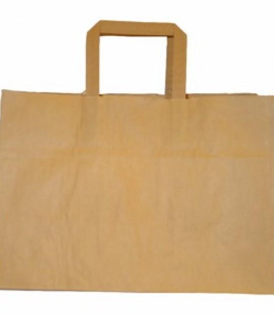 Bærepose papir, uten trykk, 250 stk
