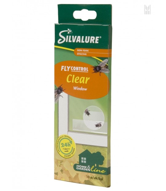 Fluefanger for vindu, Silvalure 10-pakk
