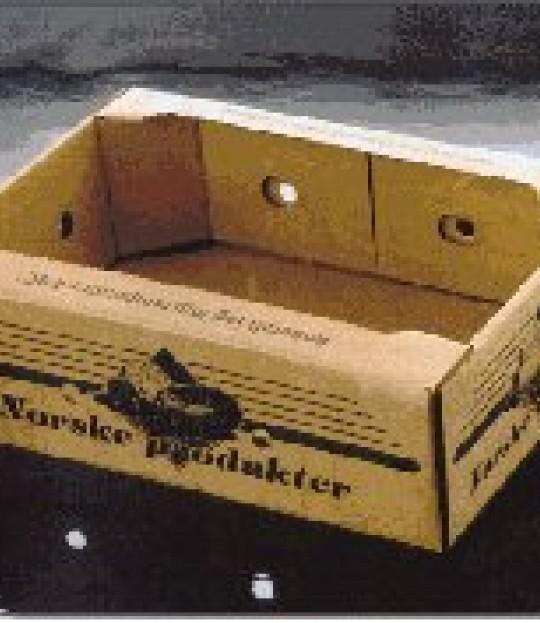 Bærkasse papp Norsk produkt pr stk