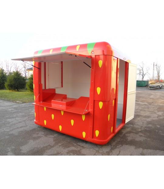 Jordbær Kiosk Liten 2,45 x 2,18 meter
