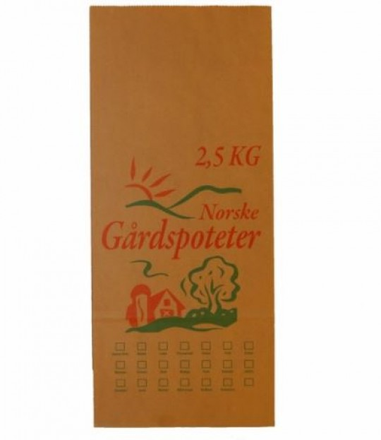 Potetpose 2,5 kg, 100 stk