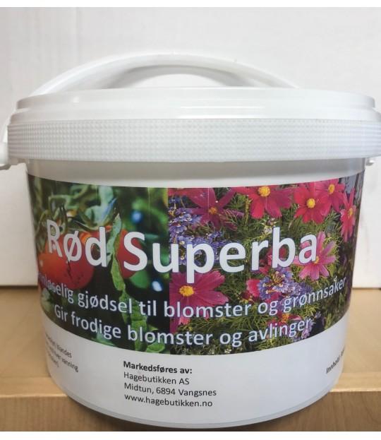 Superba Rød, vannløselig gjødsel 3 kg spann