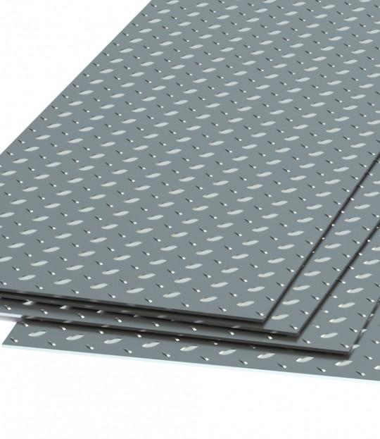Dørkeplate tilhengerbunn Aluminium 3mm 150 x 300 cm