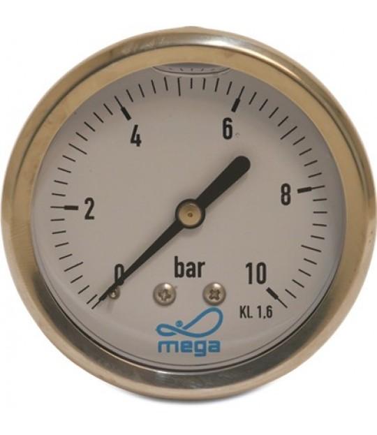 Manometer Profec glycerin 63mm 0-6 bar, bakstuss 1/4