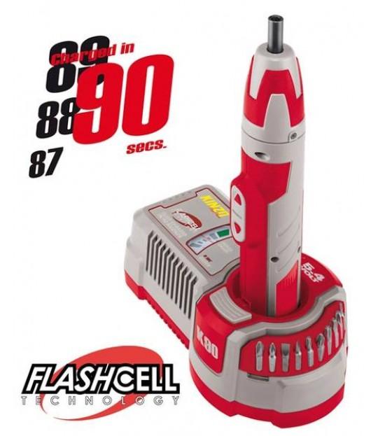Skrurekker Flashcell 90 sekund ladetid 5,4 V