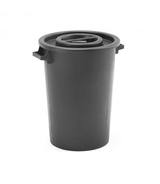 Tønne med lokk, plast 75 liter