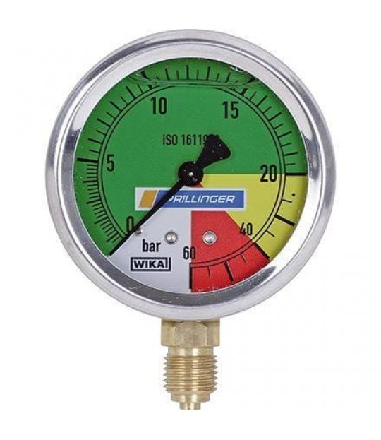 Manometer Ø:107mm, 1/4