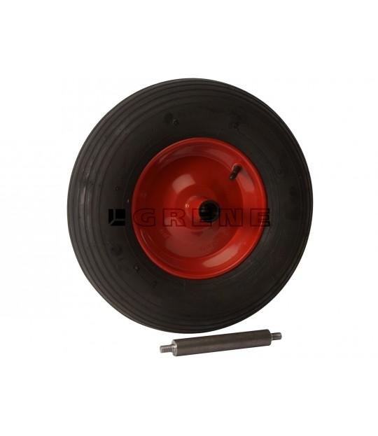Trillebårhjul komplett 400x8-4 M/GJENGER