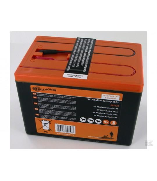 Batteri 9V 55 Ah Alkaline