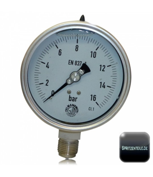 Manometer Ø:68mm, 1/4