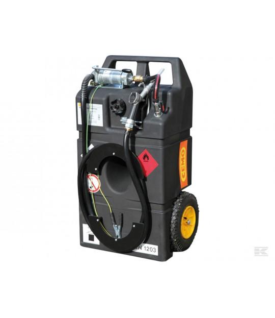 Bensintank med hjul 95 L håndpumpe 25l/min.