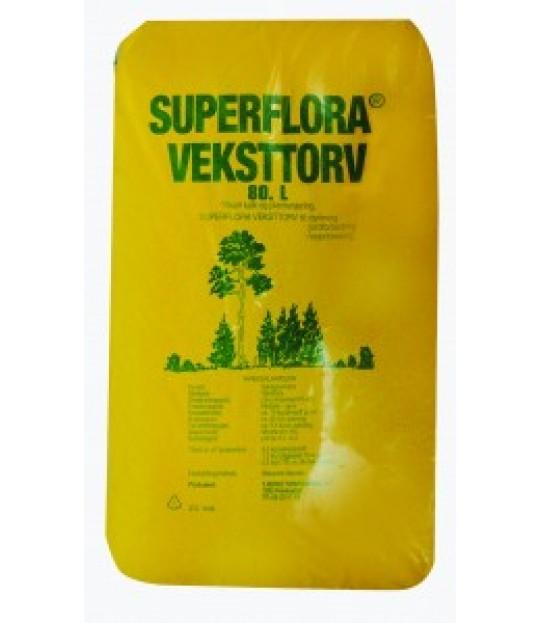 Veksttorv LOG Superflora 80 liter, 36 sk_pall